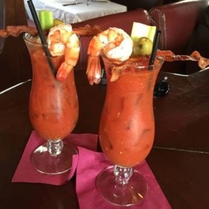 Bloody Caesar with St Ours Clam Broth Tomato Juice